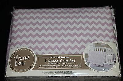 Trend Lab Orchid Bloom 3 Piece Girls Crib Bedding Set