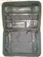 Vintage Hazel Black Business Padfolio Portfolio Executive Zipper Binder Folder