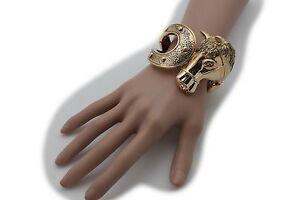 Women-Cuff-Bracelet-Western-Fashion-Jewelry-Gold-Metal-Big-Rodeo-Horse-Horseshoe