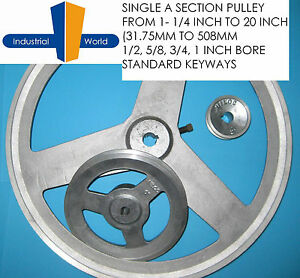 Aluminium-V-Belt-Pulley-A-Section-Single-Groove-various-sizes-from-1-1-4-to-20-034