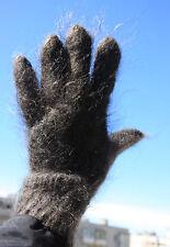 100% Longhair goat fluff Gloves hand knitting Furry Fetish Mohair Angora wool L