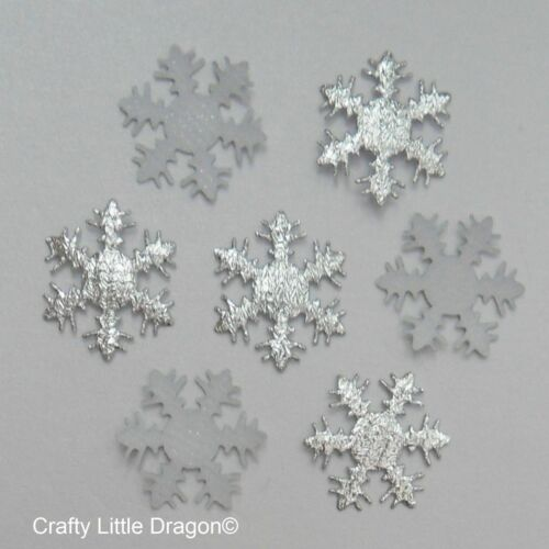 100 x 25mm Silver Material Snowflake Loose Embellishments Perfect 4 Frozen Theme