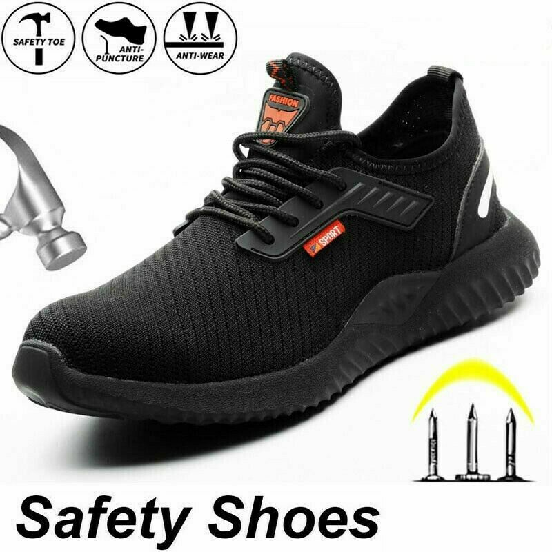 MENS WORK STEEL TOE CAP LIGHTWEIGHT SAFETY TRAINERS BOOTS HIKING SHOES SIZE