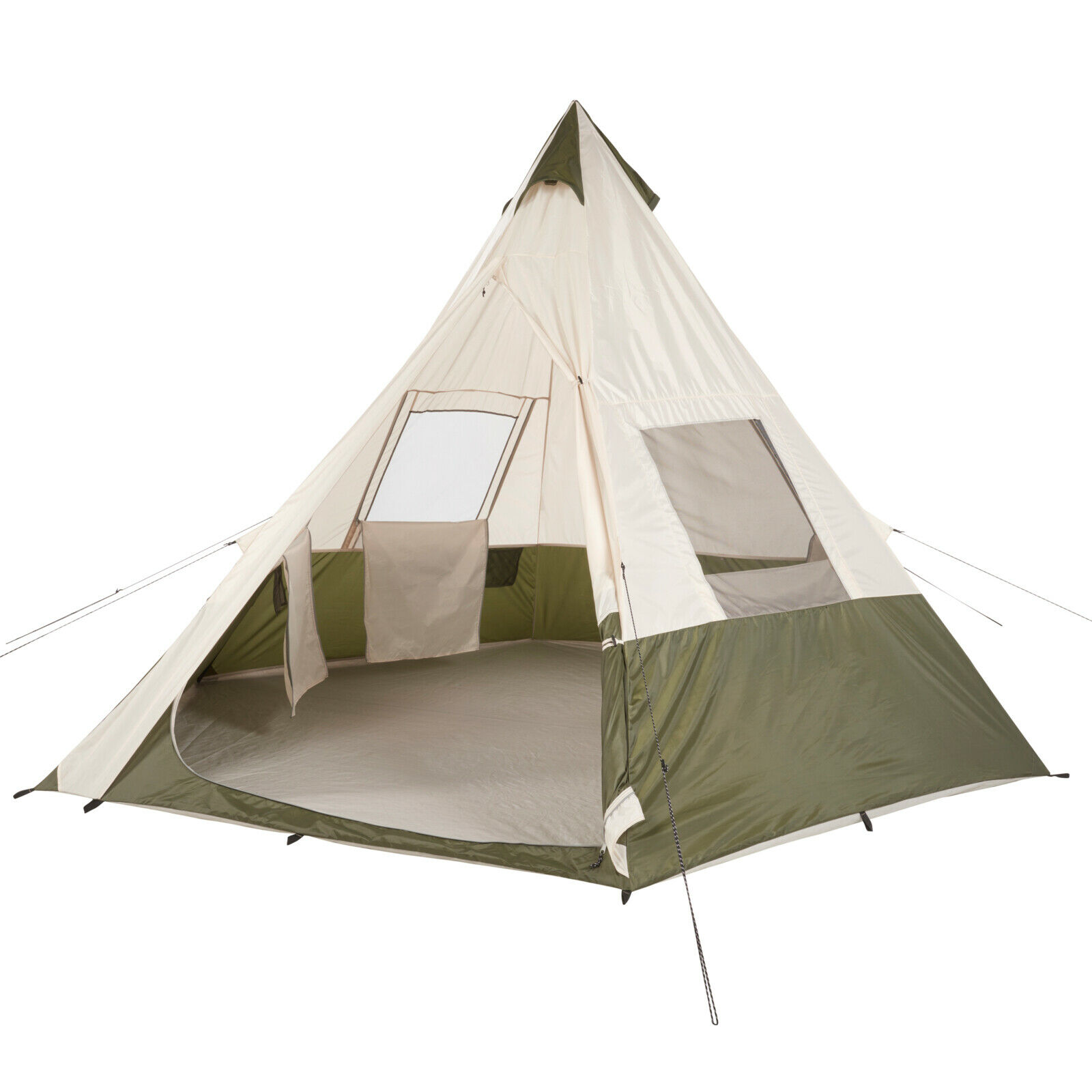Ozark Trail 7Person Teepee Tent without Center Pole Obstruction