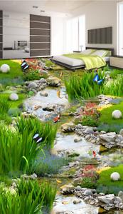 3D Mariposa Jardín Piso impresión de parojo de papel pintado mural 7 5D AJ Wallpaper Reino Unido Limón