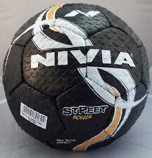 Nivia Street Football, Size 5 (Black)