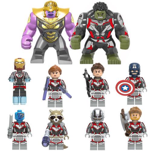 Baukästen Figuren DIY Marvel/'s The Avengers 4 Captain America Batman Hulk 10PCS