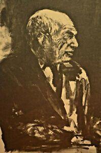 ARBIT BLATAS Original Signed Vintage Abstract Pablo Picasso Portrait Lithograph
