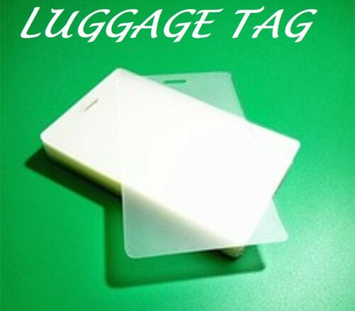 100 LUGGAGE TAG Laminating Pouches Sheet With Slot 2-1//2 x 4-1//4 10 Mil Quality