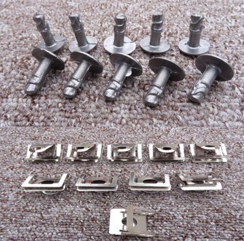 10x Mercedes Benz Motor Bajo Bandeja Clips Protector de salpicaduras Escudo con Cierre De Cubierta Inferior