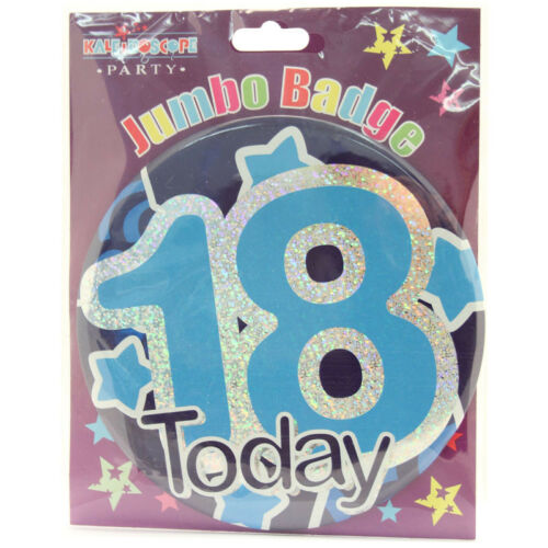 """Giant BADGE Party//Boy//Male//Ages MALE//BOY BIRTHDAY BADGES 6/"""" // 15cm"""