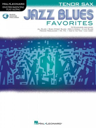 Jazz Blues Favorites Tenor Sax Instrumental Play-Along Book and Audio 000154485