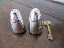 VINTAGE PROIETTILE a forma HM Sterling Silver / PLASTICA Salt & Pepper Pots-VINERS 1968