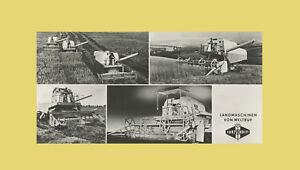 Fortschritt Mähdrescher E 512 Postkarte Bildtafel DDR Original