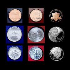 2013 P+D+S Lincoln Jefferson Roosevelt Mint Proof Set ~ Lot of Nine U.S. Coins