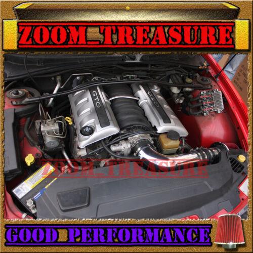 BLACK RED 2004//04 PONTIAC GTO G T O 5.7L 6.0L V8 FULL AIR INTAKE KIT