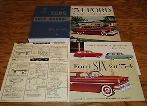 1954-Ford-Car-Shop-Service-Manual-Owners-Manual-Sales-Brochure-12-Piece-Lot-54