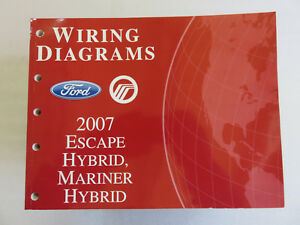 2007 Ford Escape Mariner Hybrid Service Manual Electrical ...