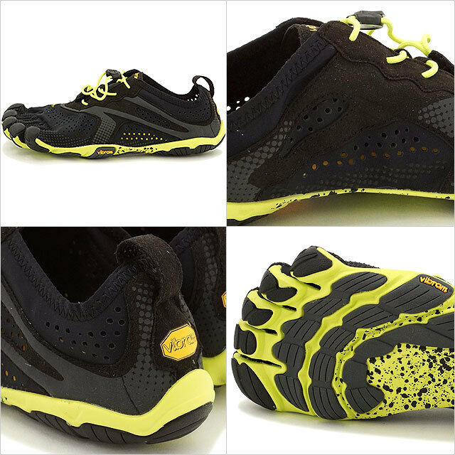 Vibram Fivefingers V-RUN Black Yellow Men's sizes 38-50 NEW