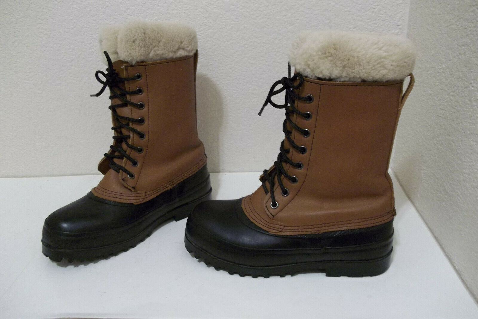 WOMENS J CREW 79891 LEATHER WATERPROOF WINTER SNOW BOOTS SZ 6 REMOVABLE LINERS
