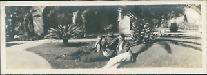 USA-Pasadena-California-Panoramic-view-Vintage-silver-print-Vue-panoramiqu