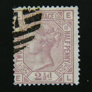 GREAT BRITAIN, Victoria, Scott #67, 2½p Claret, Plate 13, Used, cv$60.