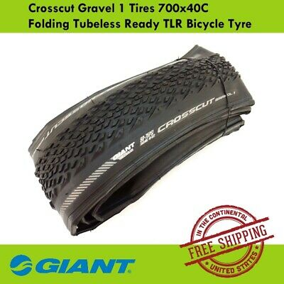 Giant Crosscut Gravel 1 Bicycle Tires 700x40C Folding Tubeless Ready TLR