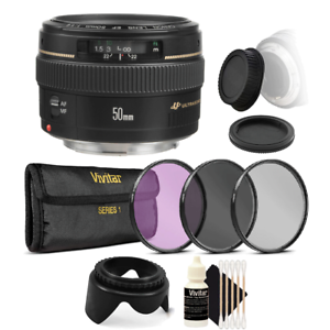 Details about Canon EF 50mm f/1 4 USM Lens Kit Accessories for Canon T3i  T2i T1i