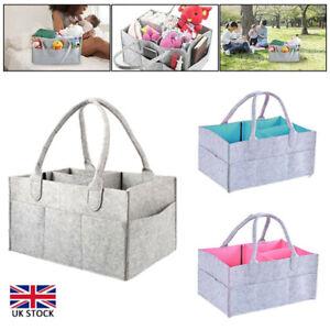 Baby Diaper Organizer Caddy Felt Changing Nappy Kids Storage Carrier Bag Box UK