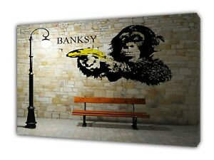 Monkey Banana banksy Bild auf Leinwand Banksy