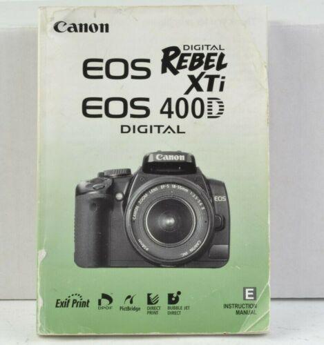 Canon EOS Rebel XTi / 400D  Digital Camera Instruction Manual English AC (102)