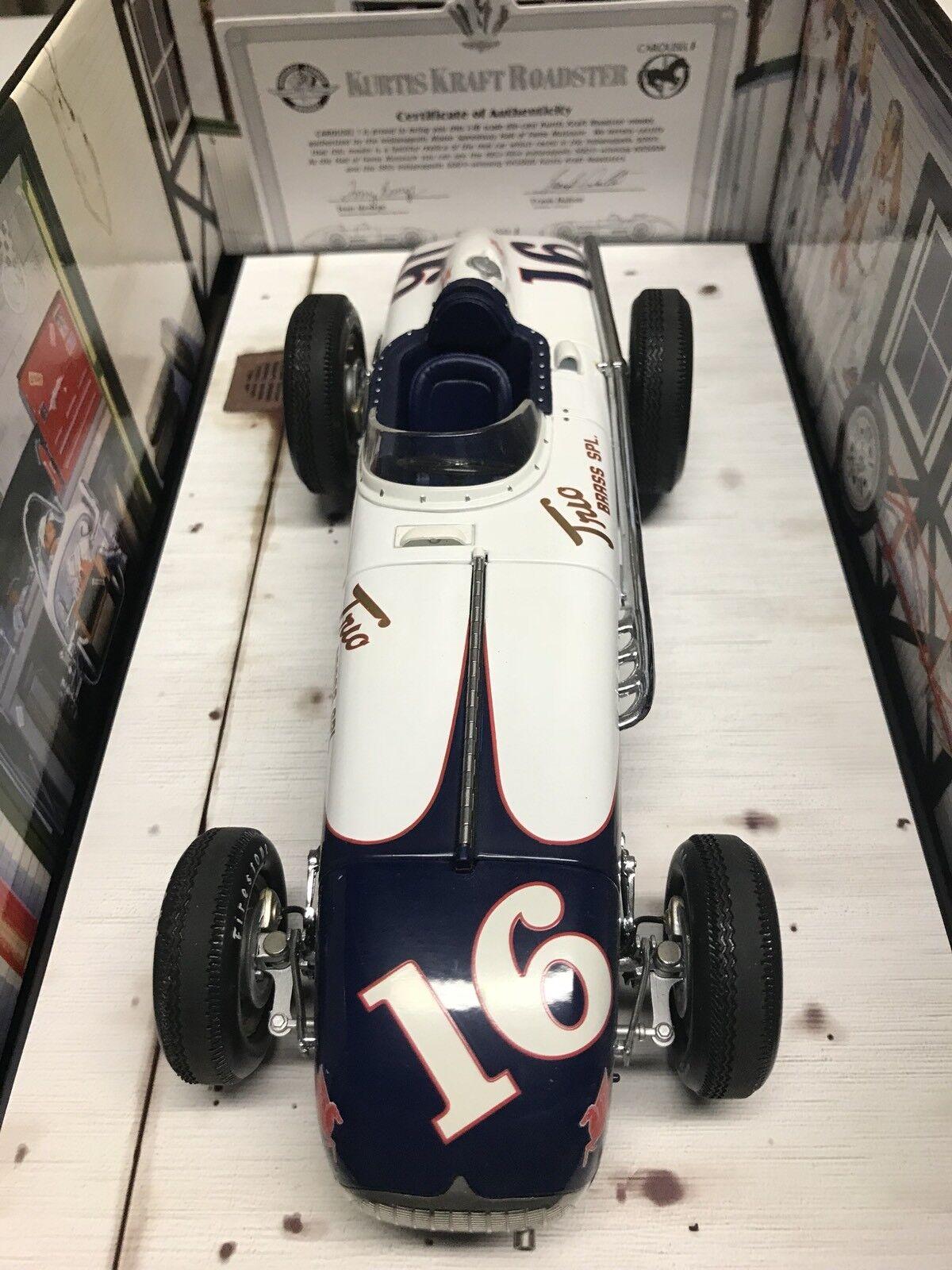 Carousel 1 Johnnie Parsons trío de latón Kurtis Kraft 1955 Indy 500  18 +
