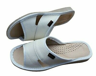 Women/'s Leather Slippers 100/% Natural Mules Slip On Open Sandals Slides Size 3-8
