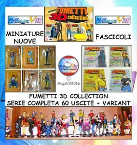 FUMETTI-3D-COLLECTION-HOBBY-amp-WORK-COMPLETA-Comics-Figure-MINIATURA-FASCICOLI