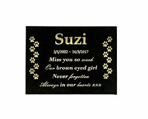 Custom-Engraved-Dog-Memorial-Plaque-Black-Granite-with-mounting-holes-200x150