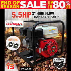 "2"" Fire Fighting Petrol Water Transfer Pump Genuine GX160 HONDA ENGINE High Flow"