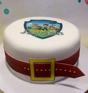 Paw Patrol Edible Cake Topper Personalized Edible Belt Cake Wrap Ebay