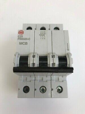 WYLEX 3 POLE MCB 10ka C TYPE 3 PHASE PSB TYPE VARIOUS AMPS