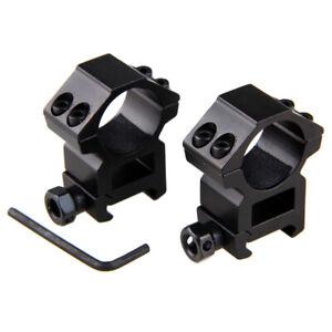 Tactical Flashlight 25.4mm//30mm Ring Scope Mount 20mm Rail Scope Mounts Set