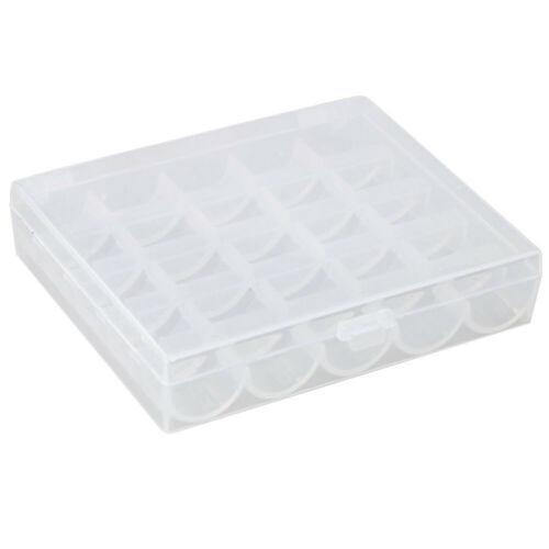 25thread Spool Sewing Bobbin Storage Box Case Organizer Colorful Empty Holder #G