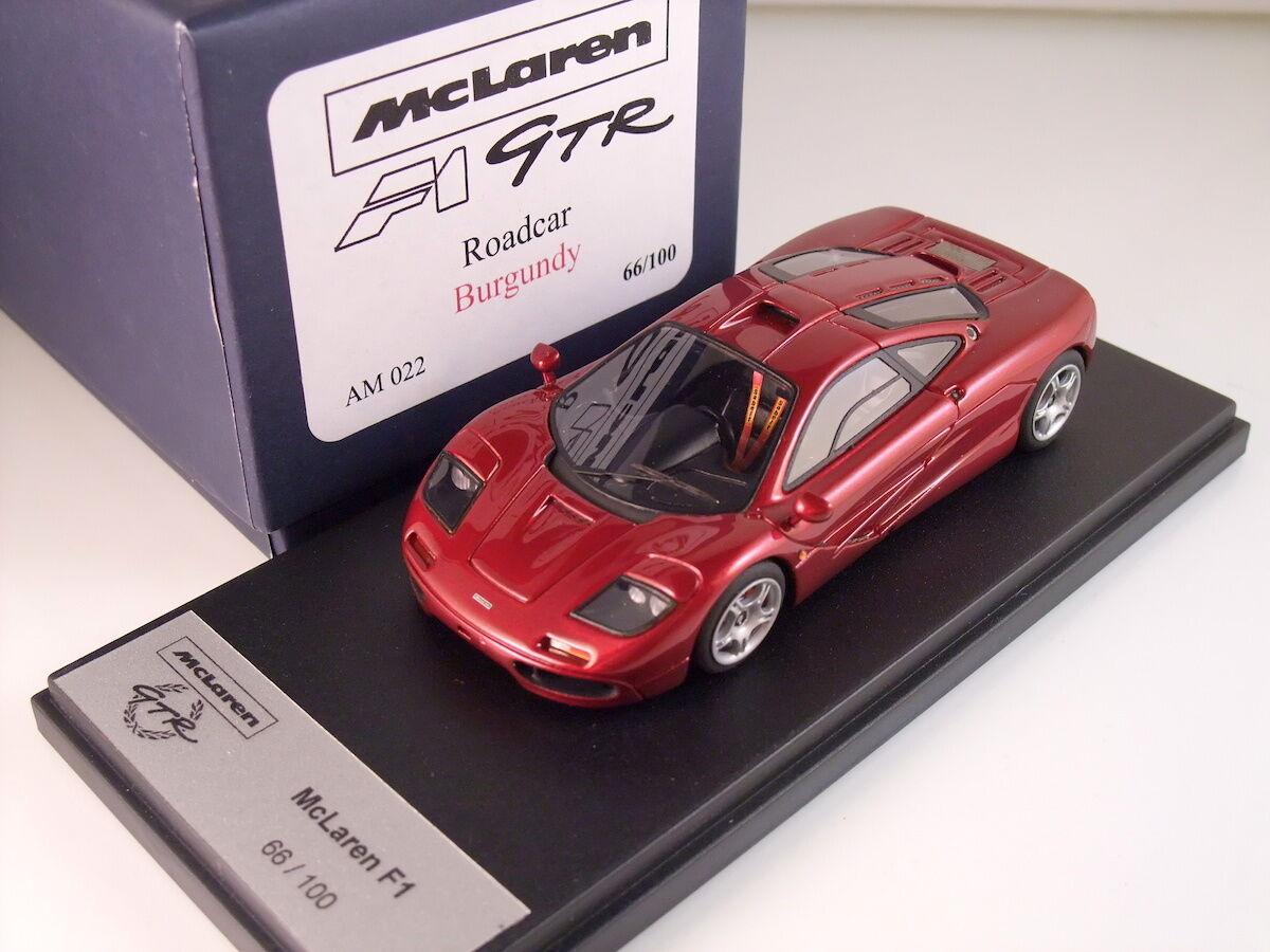 1 43 Carbarn AB Mclaren F1 GTR Roadcar Burgundy AM022