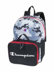 BNEW-Champion-Kid-039-s-Athletics-Camo-Print-Backpack-amp-Lunch-Kit-Set