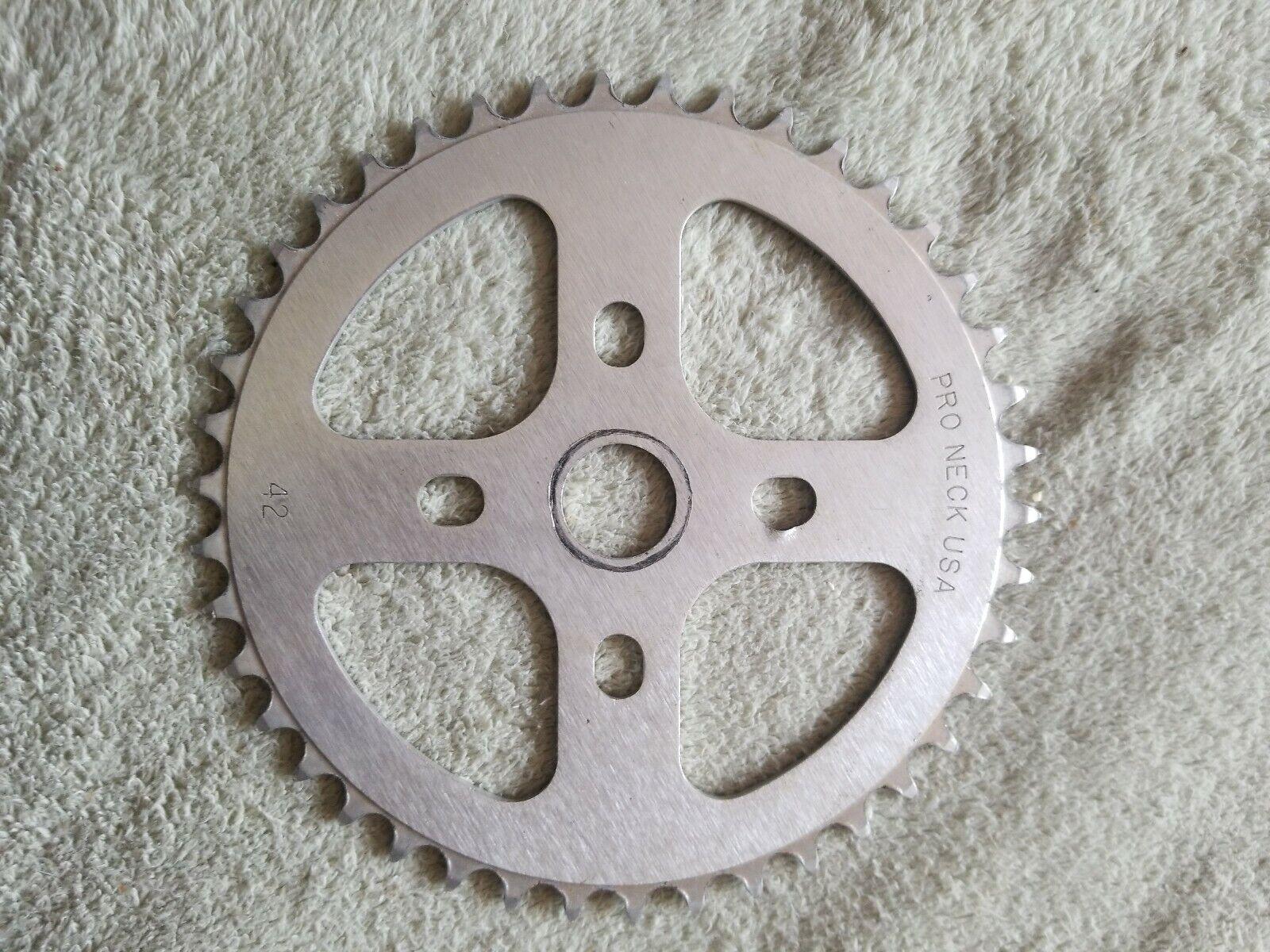 BMX bike SPROCKET Pro Neck USA 42t Silber chainring Fits gt haro hutch profile