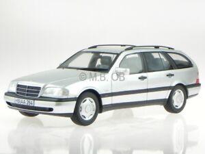 Mercedes-S202-C-Klasse-T-Modell-C220-T-1996-silber-Modellauto-BOS-1-18