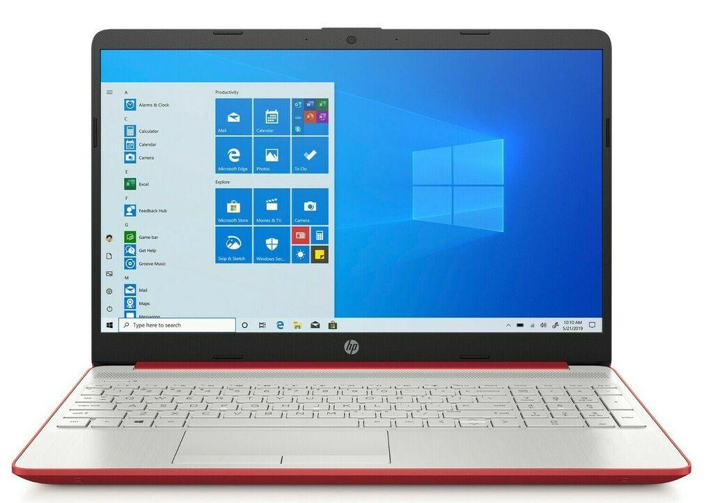 "NEW HP 15.6"" HD Red Laptop Intel Quad Core 2.4GHz 4GB RAM Webcam Windows 10    eBay"