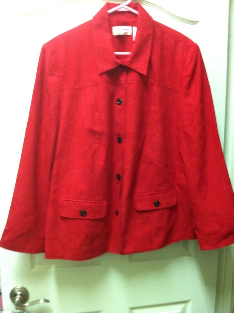 Womens Red Blazer by Alfred Dunner (size 18W) Retail Price  NWT