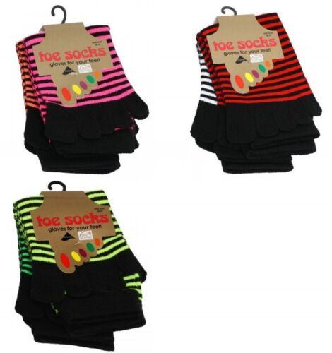ZZ04X 2 Paar Zehensocken Neon-Farben antibakteriell unisex Socken G1
