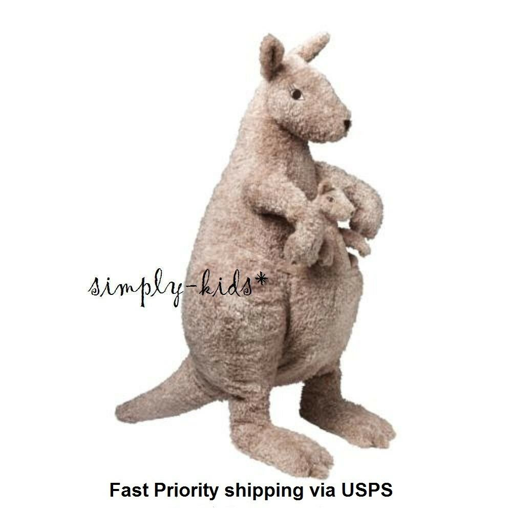 Kangaroo Mom Mom Mom Baby Joey Plush Ikea Soft Toy KLAPPAR KÄNGURU Stuffed Animal 27