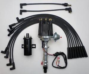 [DIAGRAM_09CH]  small cap CHEVY 348 409 Big Block BLACK HEI Distributor + 45k Coil + Plug  Wires | eBay | Big Block Chevy Ignition Wiring |  | eBay