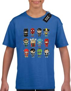 Baby Supereroe Bambini T-shirt girocollo Ragazzi Ragazze Carino AVENGER HULK COL